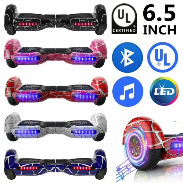 6.5quot; Electric Hoverboard Bluetooth Speaker LED Self Balancing Scooter UL NO Bag $109.99