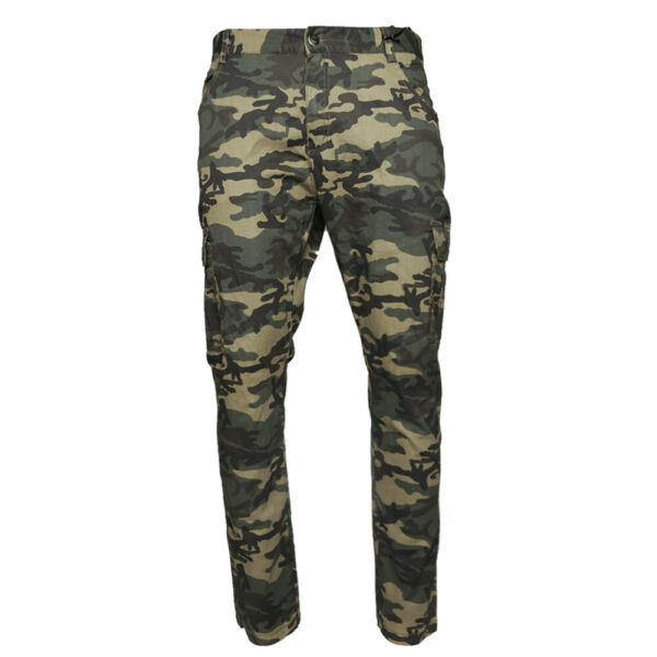 Men#x27;s Cargo Camo Pants Multi Pocket Lightweight Cotton Spandex Army Slim Fit $16.81
