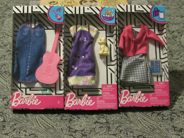 New barbie clothes lot of 3 fashion career outfits with accessories 2019