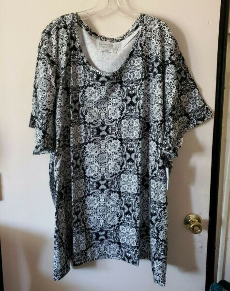 WOMENS PLUS SIZE TOP 5X TOP NWT CATHERINES $22.99