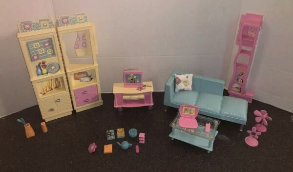 2000 Barbie Family Room Playset All Around Home Collection