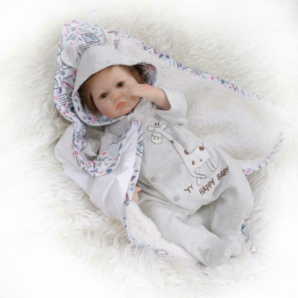 Real Life Looking Reborn Dolls Baby 16quot; Silicone Soft Vinyl Handmade Boy Doll