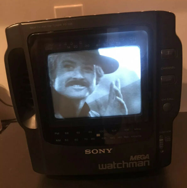 Vintage TV SONY MEGA watchman BW Nice Clean Working Condition.    *COLLECTORS*