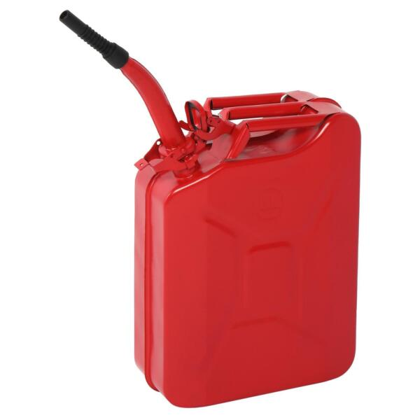 Fuel Can 5Gal 20L Gas Gasoline Fuel Army Backup Metal Steel Tank Spill Proof $41.99