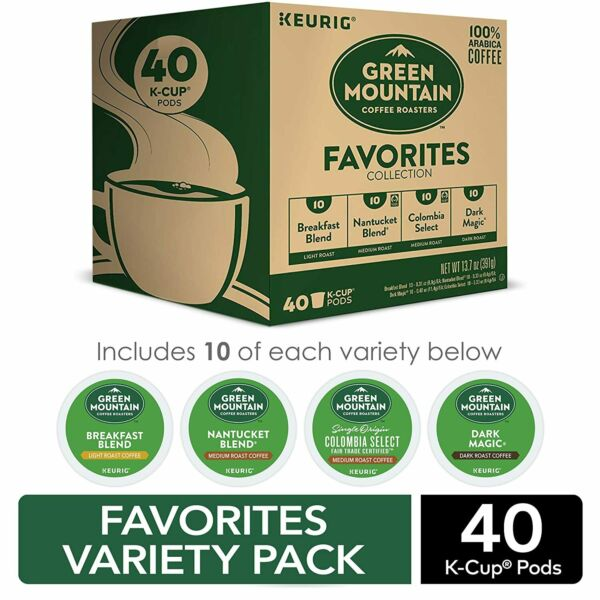 Keurig Green Mountain Coffee Roasters Favorites Collection Variety Pack 40ct
