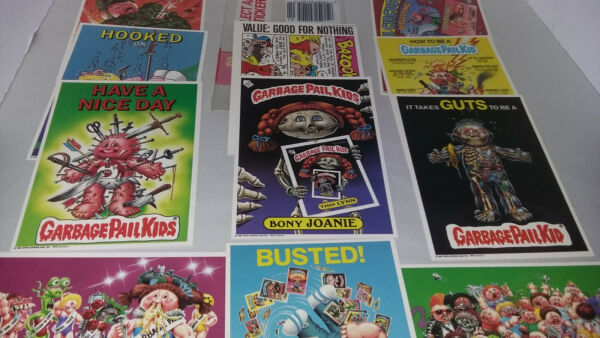 1986 TOPPS GARBAGE PAIL KIDS GIANT STICKER 11pc LOT Unused wOne Plastic Package