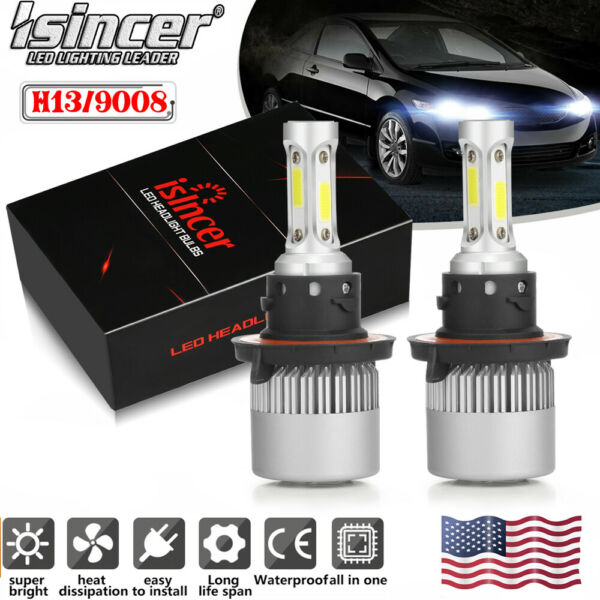 H13 LED Headlight High Low for Dodge Ram 1500 2500 3500 2006 2012 1950W 292500LM
