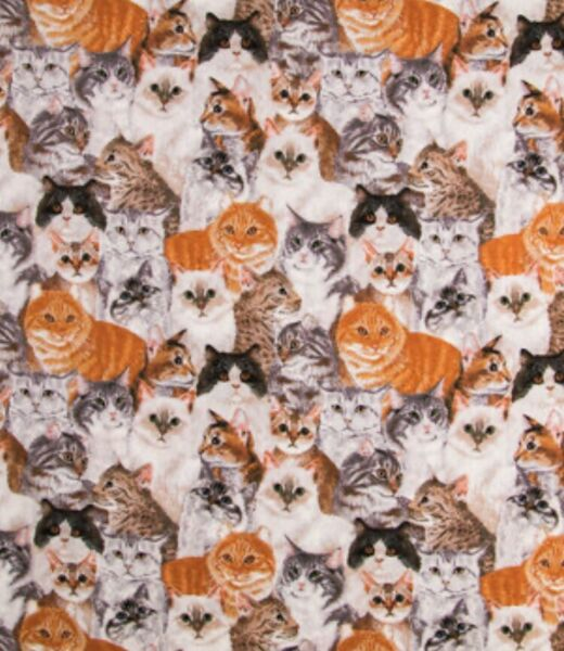 12 YARD Packed Cats Calico Cotton Fabric BTHY 18
