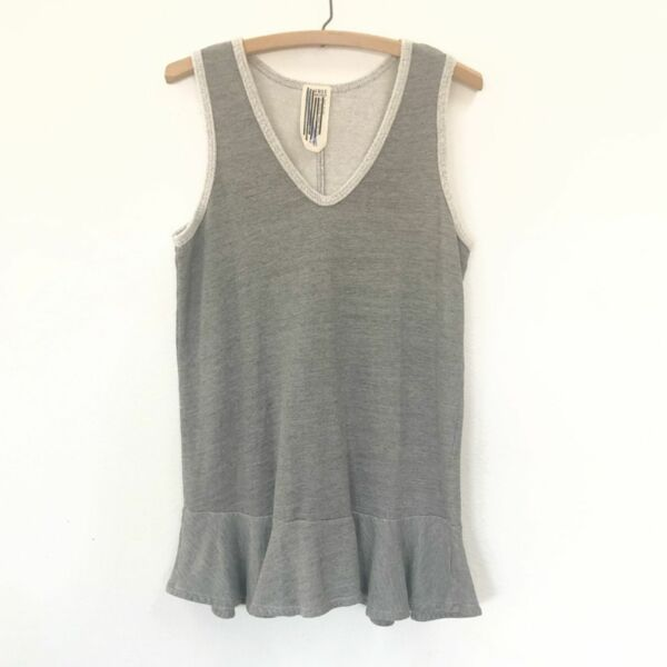 Free People gray long peplum tank top Small
