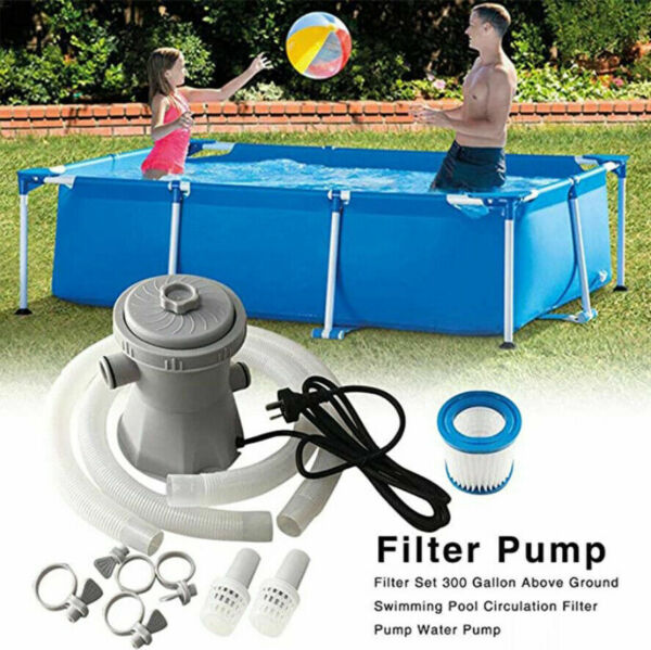 220V Electric Filter Pump Above Ground Swimming Pool Water Cleaner 300GAL $55.99