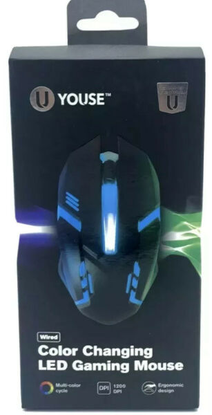 U Youse GAMING WIRED MOUSE COLOR CHANGING LED NEW