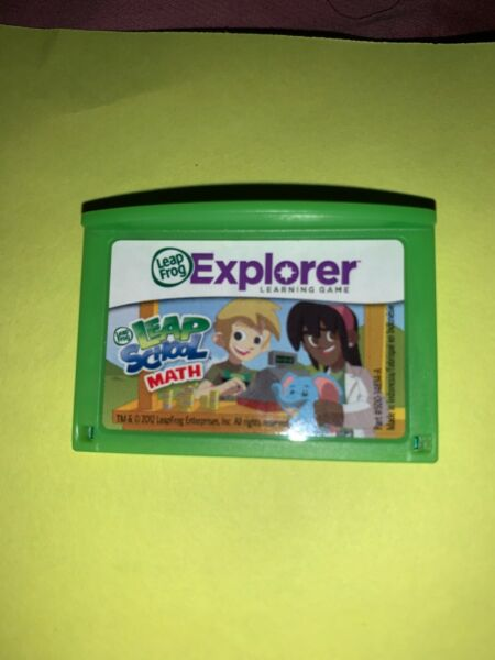 Leapfrog Leapster Explorer Game LEAP SCHOOL MATH Leap Pad 2 3 GS XDi Ultra $7.99