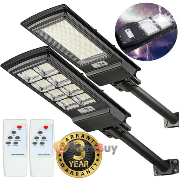 900000LM Solar Street Light LED Outdoor IP67 Dusk to Dawn Area Road Spotlight $28.75