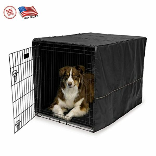 42quot; Extra Large Breed Dog Crate Kennel Pet Wire Dogs Cage Huge Folding Cover NEW $40.45