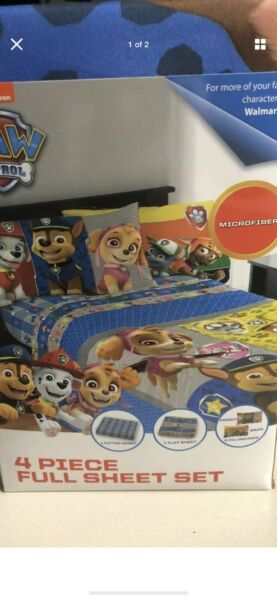 Paw Patrol Twin Size Sheet Set Nickelodeon By Franco