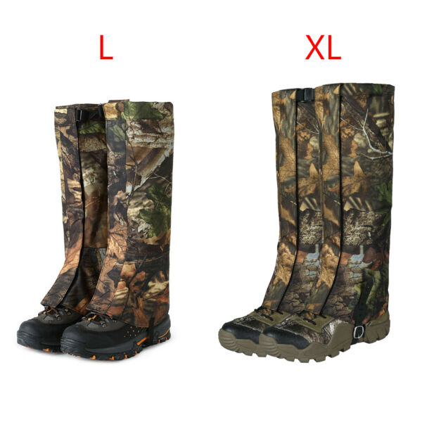 2x Camo Outdoor Hiking Hunting Snow Waterproof Boots High Legging Gaiters