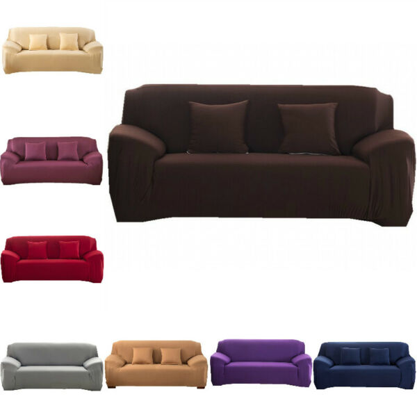 1 2 3 4 Seater Stretch Chair Sofa Cover Slipcover Couch Loose Covers Elastic $22.59