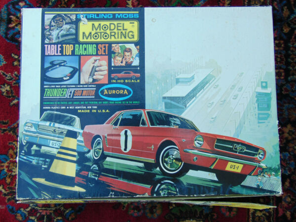 Aurora Stirling Moss Thunder Jet 500 Motor Racing Set Used As Is AFX Car $75.00