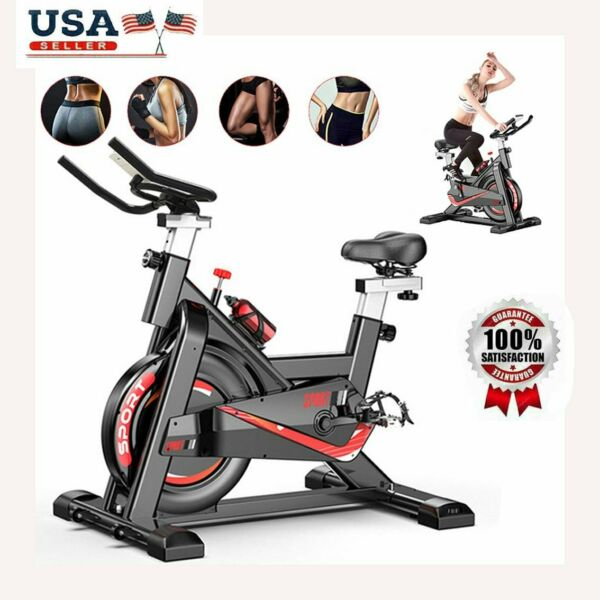 Exercise Bike Indoor Cycling with Digital Monitoring Heart Rate MonitorUS STOCK $239.99