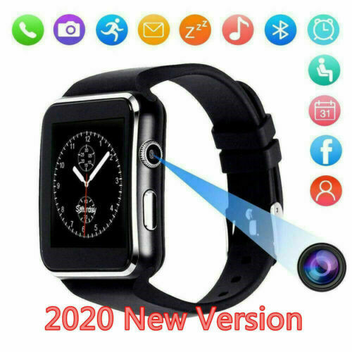 Waterproof Bluetooth Smart Watch SIM Phone Mate For iphone IOS Android Black $15.99