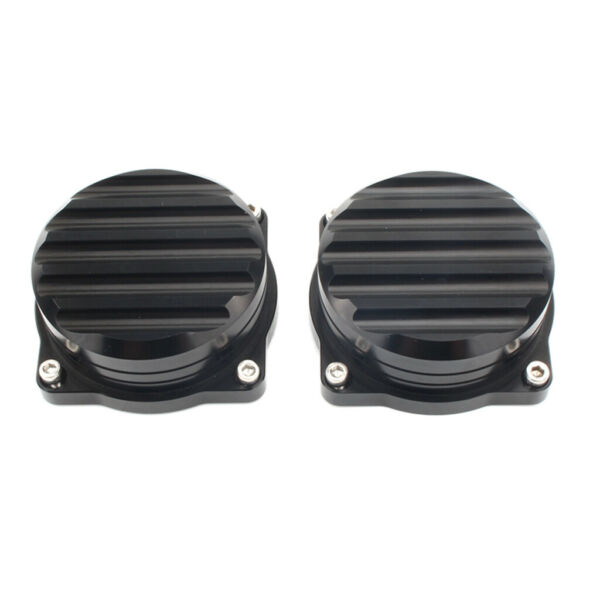 2x Motorcycle Injection Carburetor Cover Lid CNC Carb Tops for Triumph Black $25.41