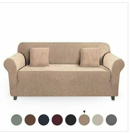 JinaMart High Stretch Slipcover Washable Slipcovers for Sofa 2 Cushion Covers $37.00