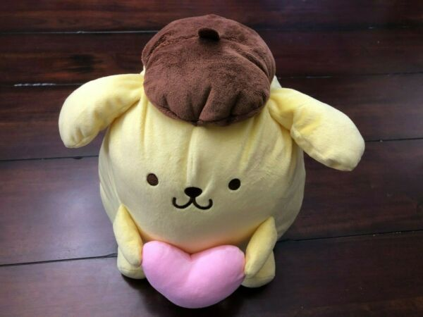 12quot; Sanrio Plush Pompompurin with Pink Heart Round 1 Plush Free Shipping