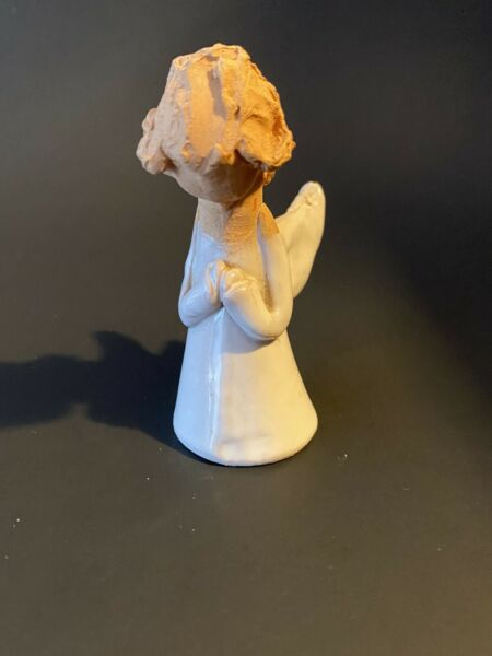 Vintage Pernille Pottery Angel Small Figurine Stamped Pernille $15.99