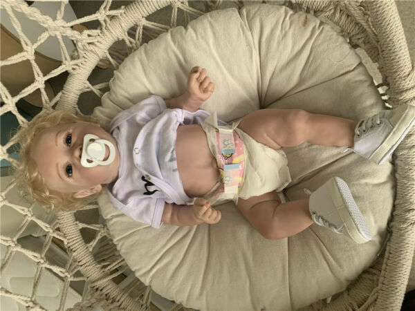 22quot; Reborn Baby Dolls Girl Full Body Silicone Reborn Toddler Dolls Realistic Toy
