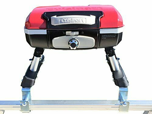 Cuisinart Grill for Pontoon Boat with Arnall#x27;s Stainless Grill Bracket Set RED
