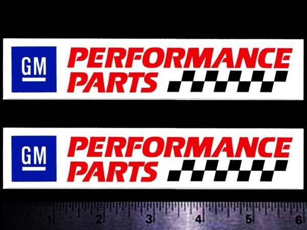 GM Performance Parts Set of 2 Original Vintage Racing Decal Stickers CHEVY OLDS $5.50