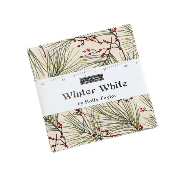 FABRIC Moda Charm Pack WINTER WHITE Holly Taylor 6810PP 42 5quot; squares