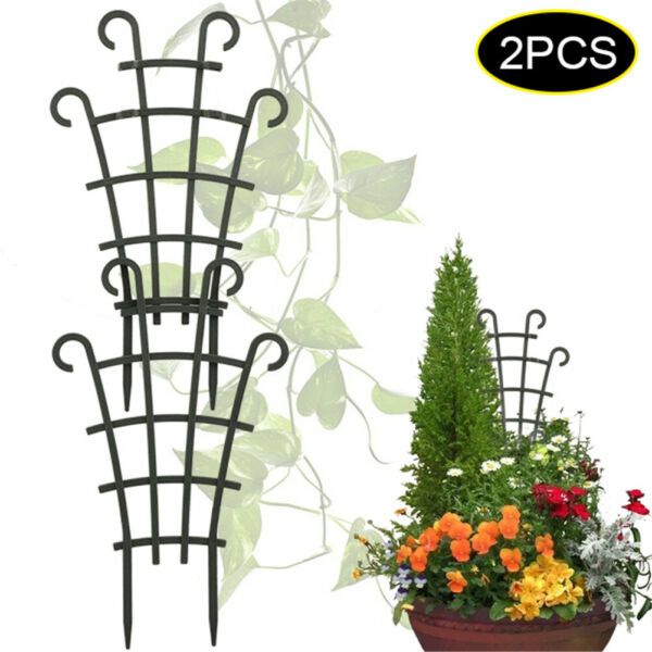 2PCS Climbing Plant Support Trellis Garden Flowers Tomato DIY Stand Plastic $4.68