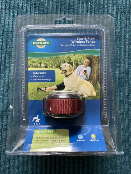 PetSafe Stay amp; Play Wireless Receiver Stubborn Dog Fence Collar New 13672 $89.00