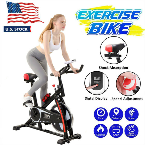 Indoor Cycle Bike Exercise Bike Stationary Bicycle Home Gym Cardio Trainer Pedal $129.99