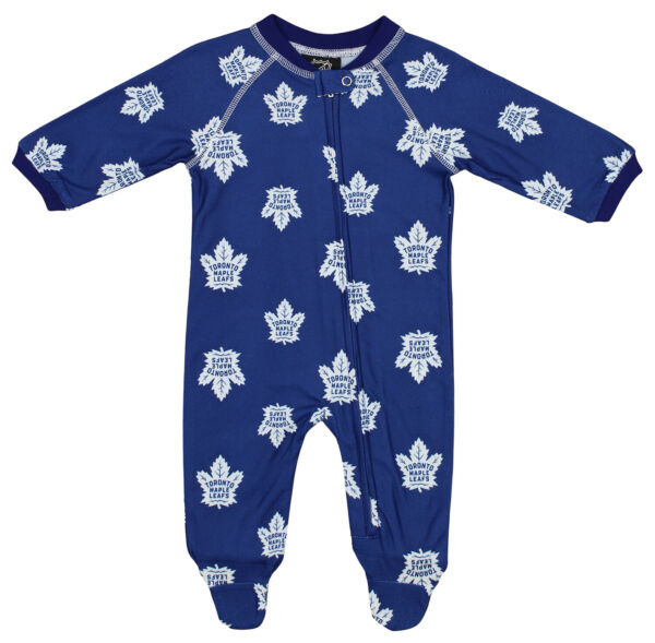 Outerstuff NHL Infants Toronto Maple Leafs Raglan Zip Up Coverall Blue