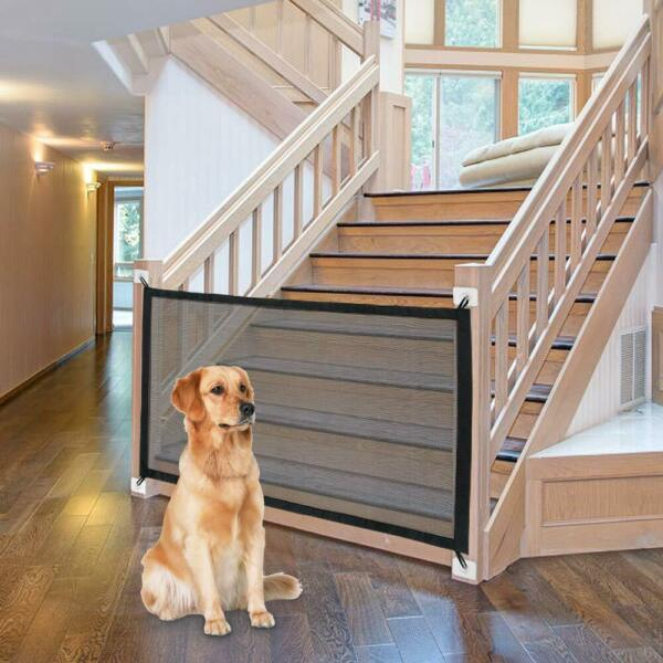 Stairs Gate Baby Dog Safety Gate Ingenious Mesh Fence For Indoor and Outdoor