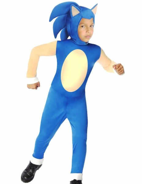 Sonic The Hedgehog Costume Boys Kids Child Deluxe S 4 6 M 8 10 L 12 14 Fast $18.36