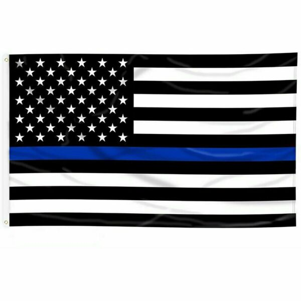 3#x27;x5#x27; FLAG Thin Blue Line Police Lives Matter Law Enforcement American US USA $6.49