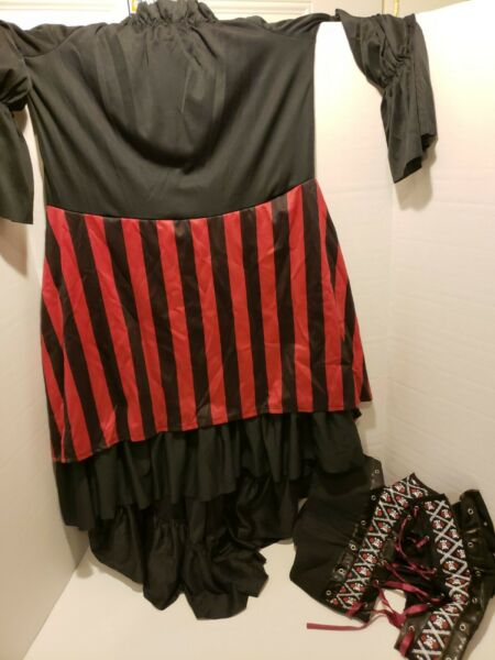 CALIFORNIA COSTUMES PIRATE WENCH ADULT COSTUME SIZE L Worn once $13.30