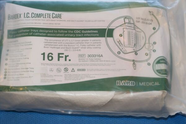 BARD BARDEX I.C. COMPLETE CARE 16FR REF: 303316A X
