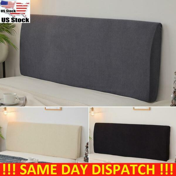 US Headboard Cover Stretch Bed Head Change Dustproof Bedding Bedspread Slipcover $20.99