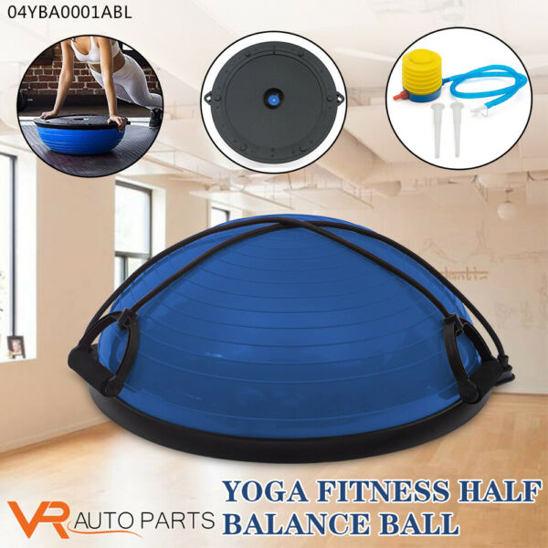 23quot; Yoga Half Ball Exercise Trainer Fitness Balance Strength Gym w Pump 6 Color $40.99