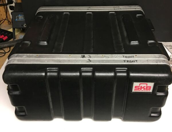 4 space SKB portable rack case for amps effects iem deep to a fit drawer too $65.00