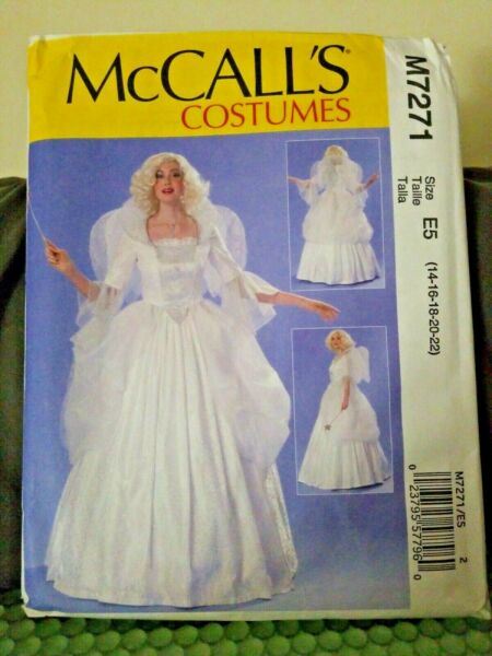 MCCALLS PATTERN 7271 FAIRY ANGEL COSTUMES MISSES SIZES 14 22 UNCUT Good Witch $8.00