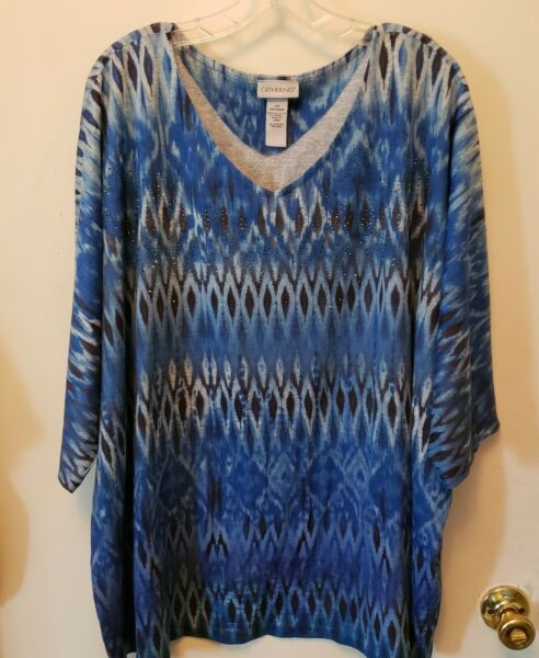 WOMENS PLUS SIZE 4X TOP CATHERINES NWOT