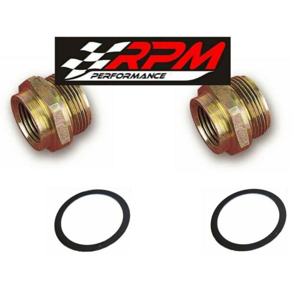 2 PACK HOLLEY CARBURETOR FUEL BOWL INLET FITTING 7 8quot; 20 FITS 3 8quot; LINE 26 26 $13.45