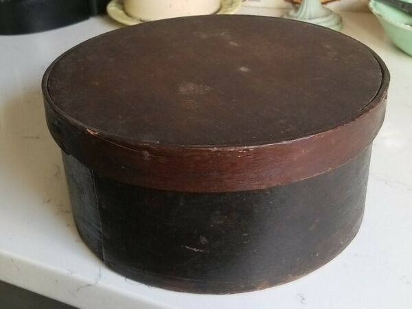 Antique Primitive Pantry Box 9quot; Original Brown Paint