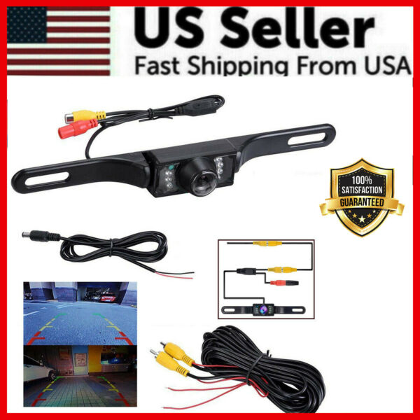 Wide 170° Night Vision Car Rear View Reverse Backup Parking Camera Waterproof $14.89