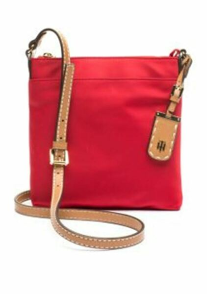 Tommy Hilfiger Julia North South Crossbody Tommy Red $41.19